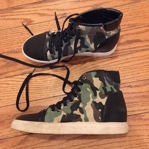 Nasty Gal Shoe Cult Camo Sneakers